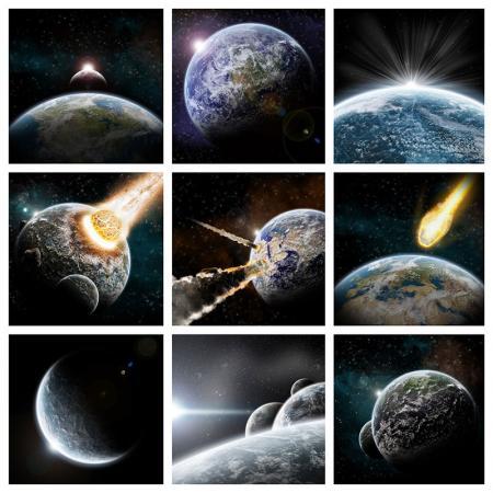 Ay - Patlama - Dünya - Galaksi resim
