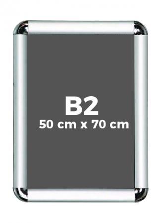 B2 (50 x 70 cm) Açılır Kapanır Alüminyum Çerçeve Rondo Köşe resim
