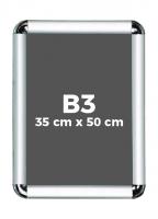 B3 (35 x 50 cm) Açılır Kapanır Alüminyum Çerçeve Rondo Köşe - DAACNG250B3R