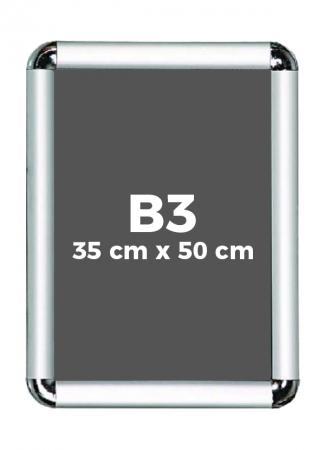 B3 (35 x 50 cm) Açılır Kapanır Alüminyum Çerçeve Rondo Köşe resim