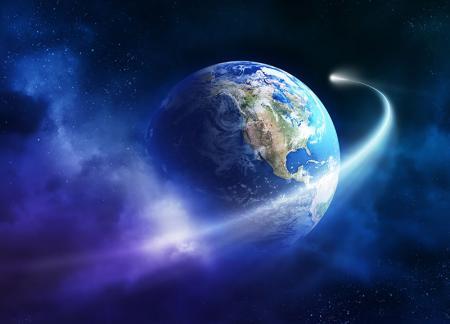 Dünya ve Halley Kuyruklu Yıldız  resim