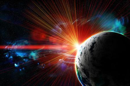 Gezegenler ve Kırmızı Nebula resim