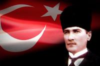 Kalpaklı Atatürk ve Türk Bayrağı - ATA-C-122