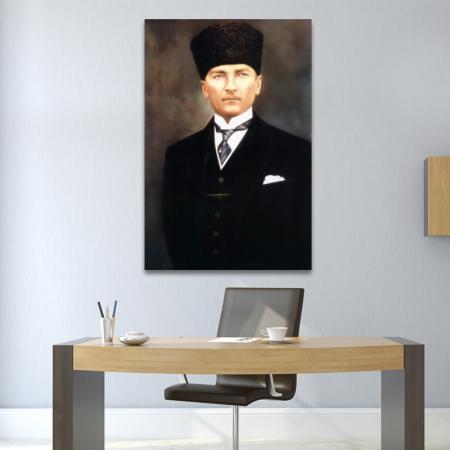 Kalpaklı ve Kravatlı Atatürk Portresi resim2
