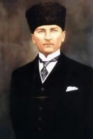 Kalpaklı ve Kravatlı Atatürk Portresi - ATA-C-102
