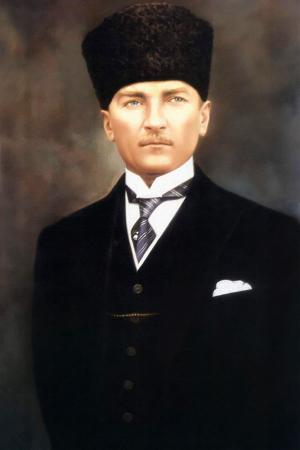Kalpaklı ve Kravatlı Atatürk Portresi resim