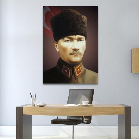 Kalpaklı ve Üniformalı Atatürk Portresi resim2