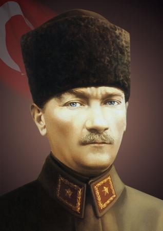 Kalpaklı ve Üniformalı Atatürk Portresi resim