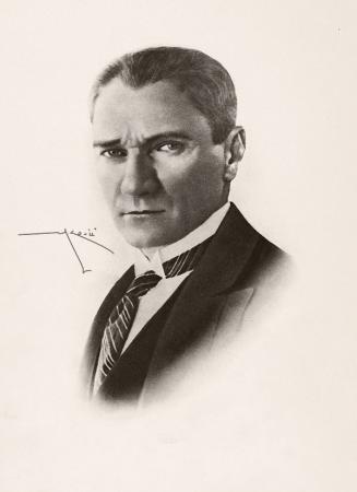 Kara Kalem Atatürk Portresi resim
