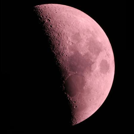 Kırmızı Ay Yüzeyi resim