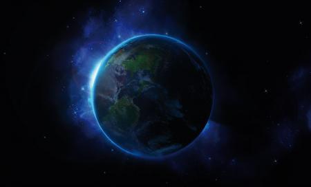 Mavi Dünya Gezegeni resim