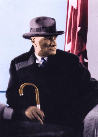 Renkli Atatürk resim