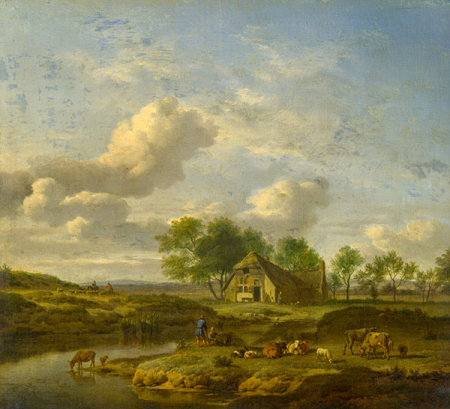 A Landscape with a Farm by a Stream 0