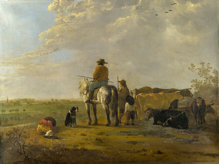 A Landscape with Horseman, Herders and Cattle 0