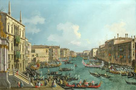A Regatta on the Grand Canal resim