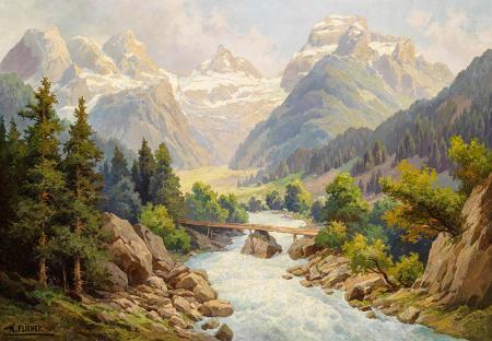 Alpler'de Nehir resim