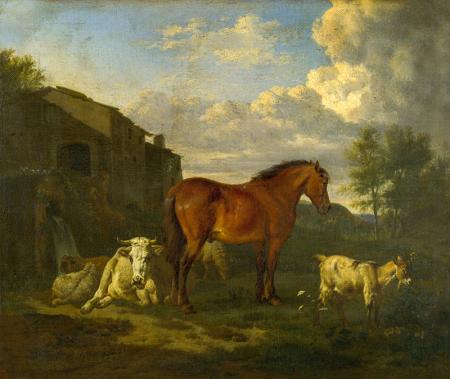 Animals near a Building 0