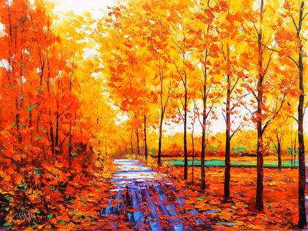 Autumn Red Maple Forest resim
