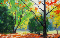 Autumn Trees Drawing - DM-C-050