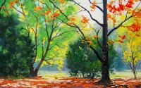 Autumn Trees Drawing - DM-C-050
