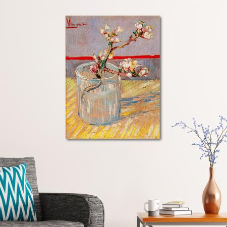 Blossoming Almond Branch in a Glass resim2