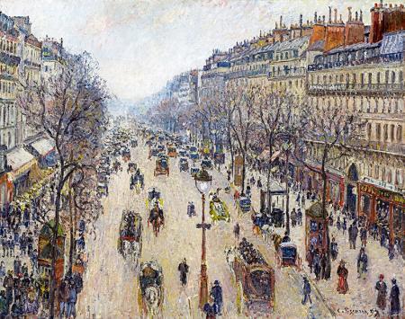 Boulevard de Montmartre, İlkbahar Sabahı resim
