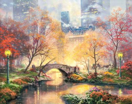 Central Park in the Fall resim