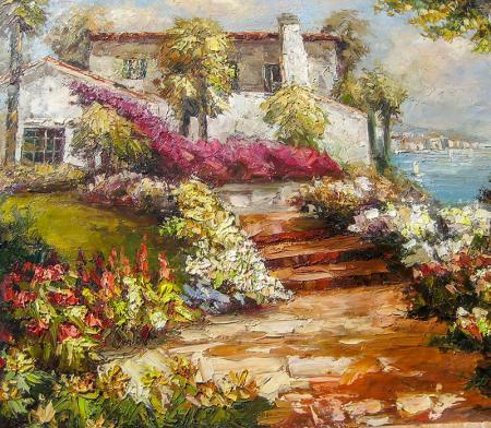 Çiçekli Bahçe resim