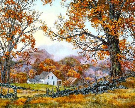 Çiftlikte Sonbahar resim