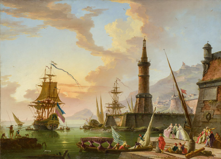 Claude Joseph Vernet  A Seaport 0