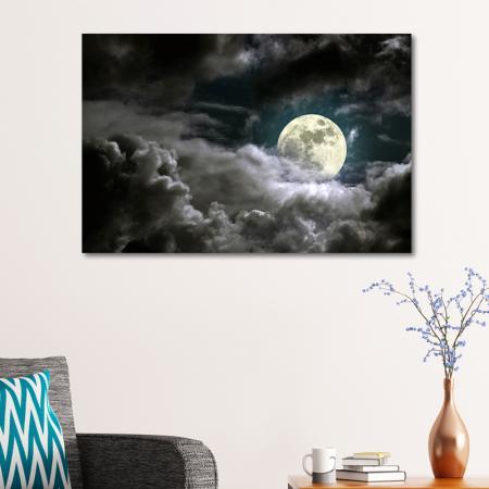 Dolunay Gecesi ve Bulutlar resim2