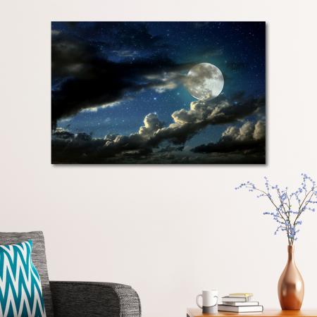 Dolunay ve Bulutlar resim2