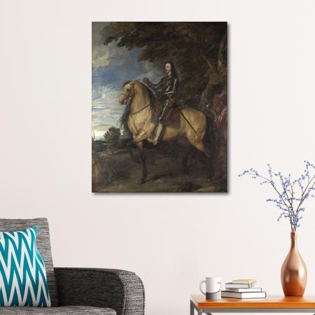Equestrian Portrait of Charles I resim2