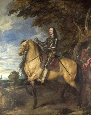Equestrian Portrait of Charles I resim