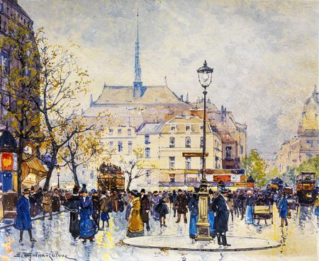 Eugene Galien Laloue Paris Caddeleri resim
