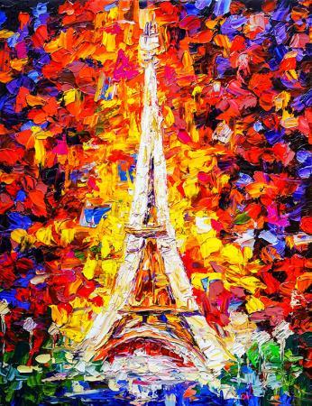 Eyfel Kulesi Yağlı Boya resim