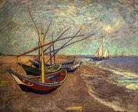 Fishing Boats on the Beach at Les Saintes-Maries-de-la-Mer - UR-C-142