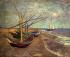 Fishing Boats on the Beach at Les Saintes-Maries-de-la-Mer k0