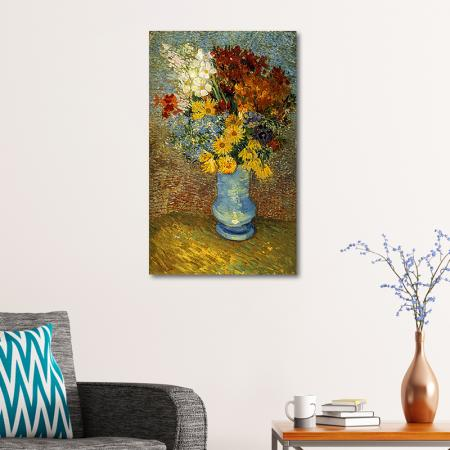 Flowers in a Blue Vase resim2