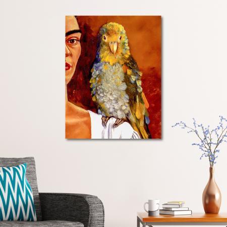 Frida & Colorful Bird resim2