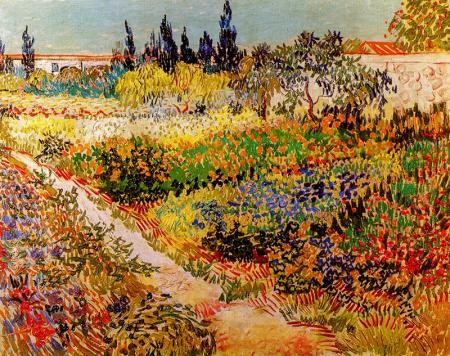 Garden with Flowers resim