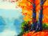 Göl Kenarındaki Ağaçlar k0