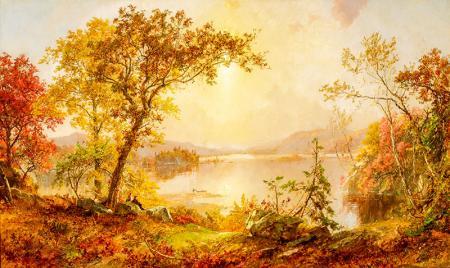 Greenwood Lake, Autumn on the Hudson  resim