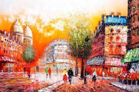 Güneşli Şehir Manzarası resim