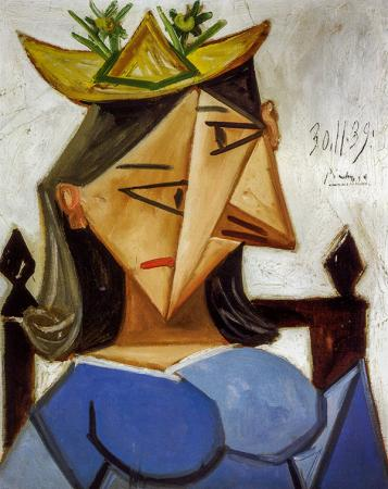Head of a Woman with a Hat resim