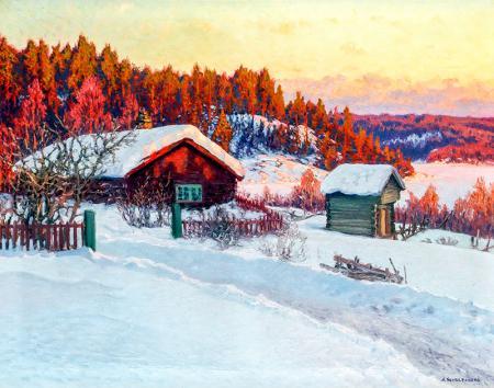 Karlı Çiftlik resim