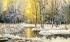 Karlı Orman ve Günbatımı k0