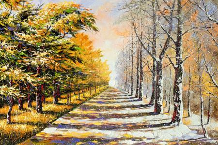 Karlı Yol resim