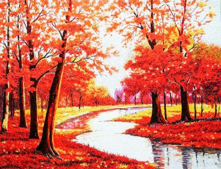 Kırmızı Yapraklar resim