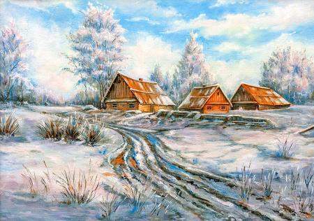 Kış Manzarası resim